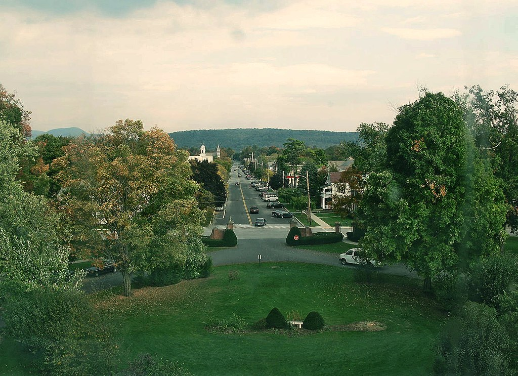 Green Mountain College >> View From Ames Hall Green Mountain College Poultney Vt