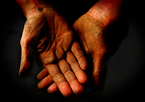 hands after working