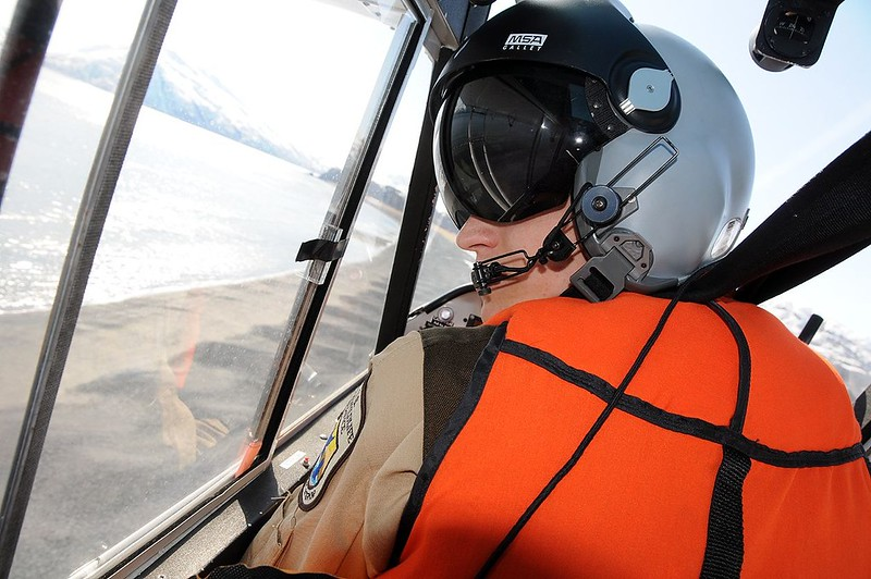 pilot over riverbank