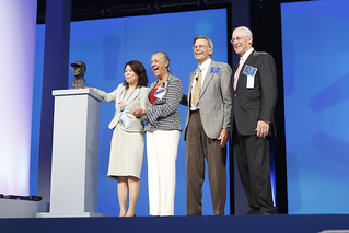 Alice, Jim, and Rob Walton present the Sam M. Walton Entrepreneur of the Year Award at the 2011 Walmart Shareholders Meeting | by Walmart Corporate