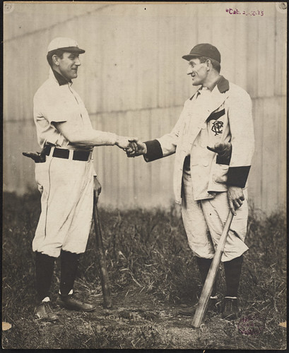 Napoleon Lajoie and Honus Wagner shake hands | by Boston Public Library