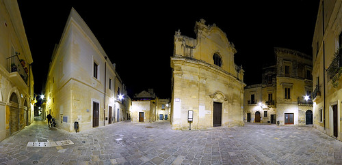 A Greek Square In Lecce (Urban panoramic exam) (6 vertical shots sticked) (Piazza Chiesa Greca - Lecce - Salento - Puglia) | by Gojca