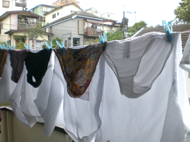 pant drying in nippon