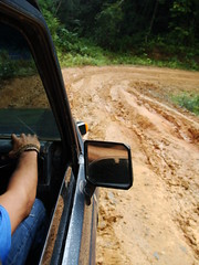 Muddy road from Panama City to Carti, Panama on the way to the San Blas Islands