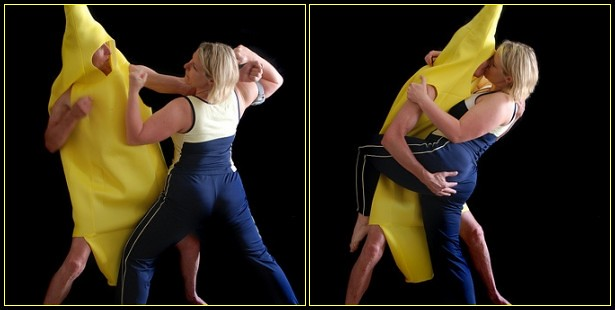 Banana-mestic violence and makeup