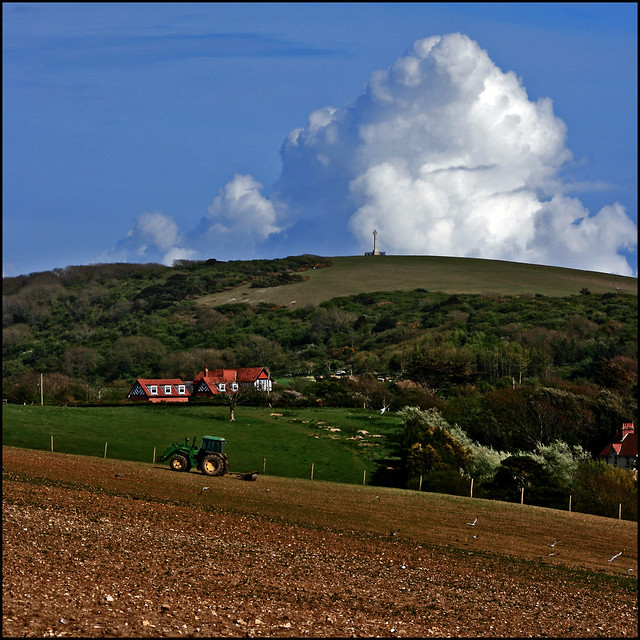 Cumulus Farming (with a John Deere) at Alum Bay - Isle of Wight