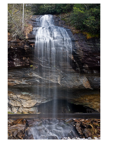 water stone waterfall nc highlands bridalveilfalls highway64 18200vr d80 nantahalaforest