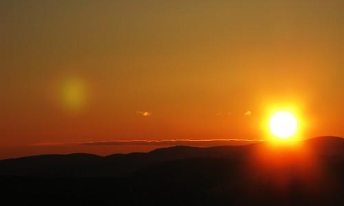 winter sunset sun vermont brookfield firetower allisstatepark canong9