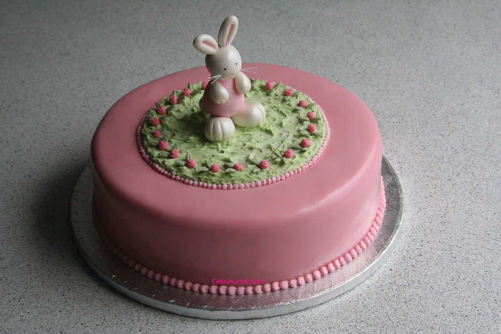Prime Bunny Birthday Cake A Sweet Littel Bunny Made Of Modelling Flickr Birthday Cards Printable Riciscafe Filternl