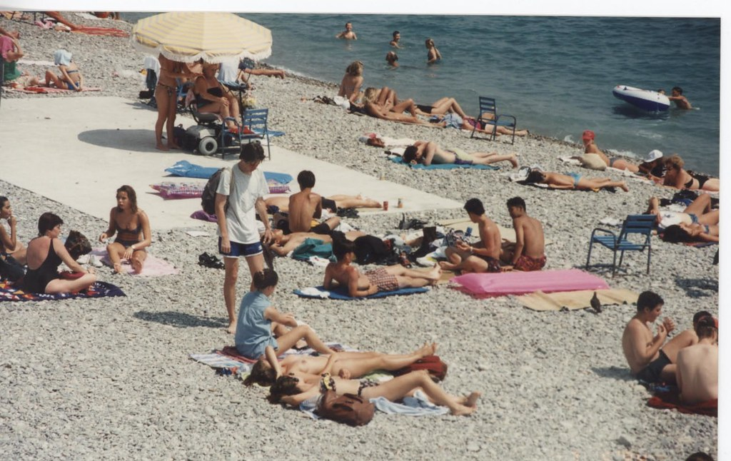 Nude beach in the french riviera