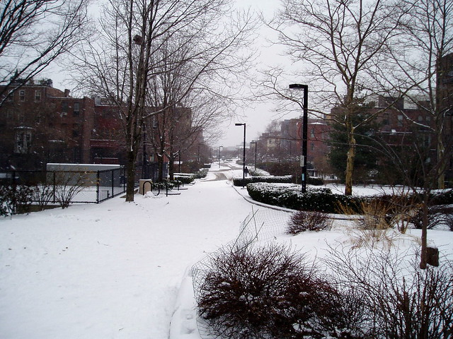 Southwest Cooridor Park in the Snow