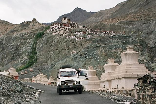 Leaving Diskit Monastery