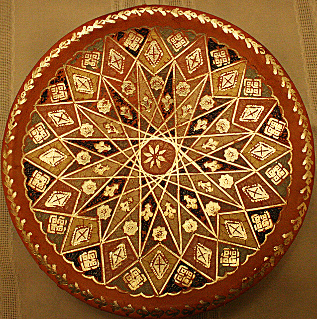 Squircle - Hand Painted Decorative Plate from Morocco
