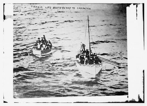 TITANIC life boats on way to CARPATHIA  (LOC) | by The Library of Congress