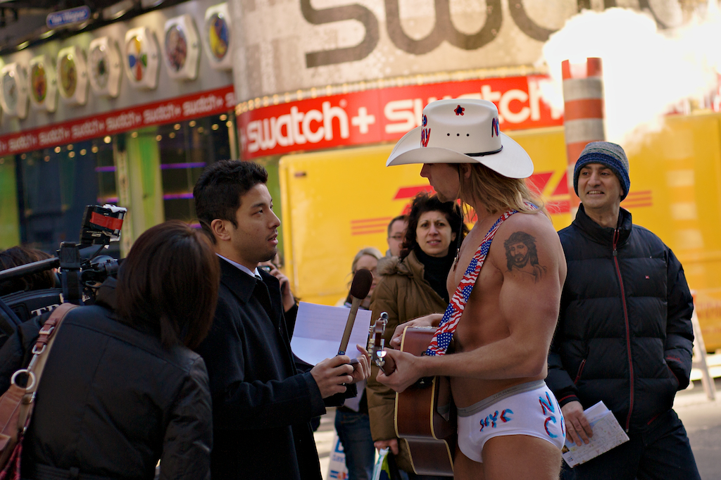 Naked Cowboy on the Run  for U.S. President