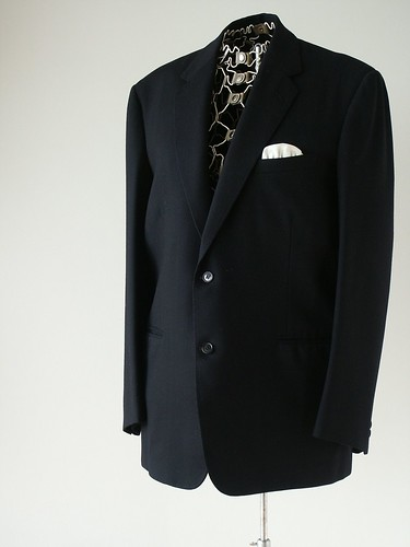 Men's Vintage Black suit Jacket | by Swing Candy