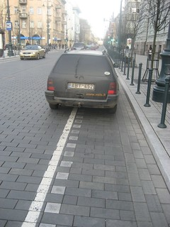 ABT452 (car on cycle lane)