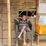 Young boy chilling out