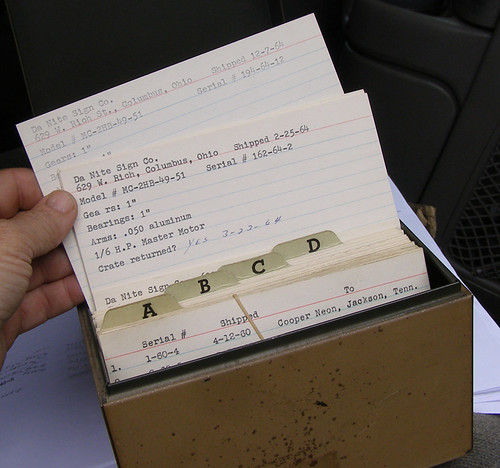 milks' roto-sphere index cards | by roadsidenut (RoadsideArchitecture.com)