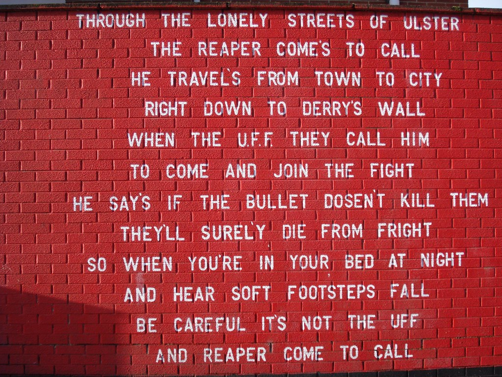 Grim Reaper 'poem', Village area, Belfast