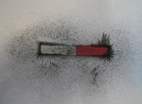 magnetic field shown by iron filings | by daynoir