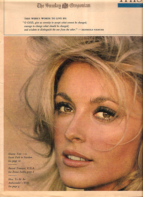 Sharon Tate - The Sunday Oregonian (1966)