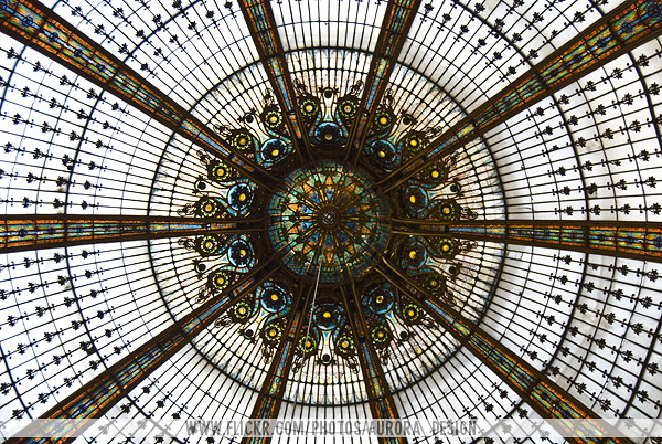 Galeries Lafayette stained-glass dome - Paris