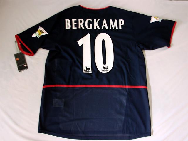 competitive price 7c364 41195 Arsenal FC 02/03 Away Code7 Bergkamp Jersey | Arsenal FC 02 ...