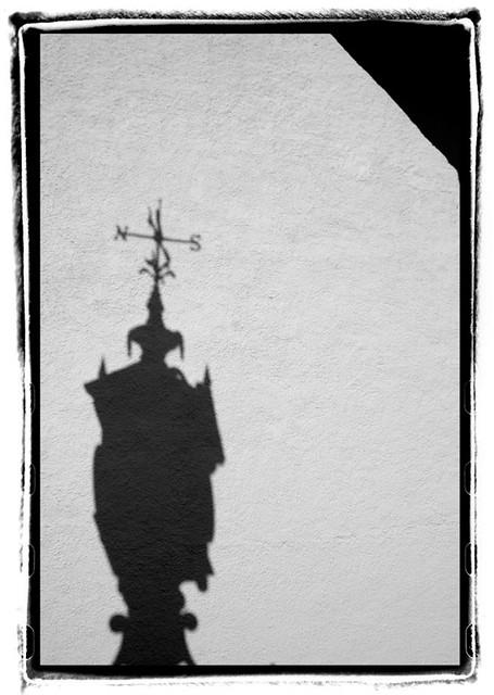 Shadow of clock, Ullapool