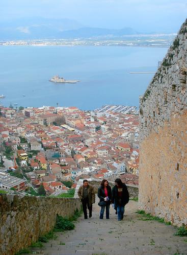 friends castle stairs view fortress nafplion palamidi burtzi mywinners goldstaraward