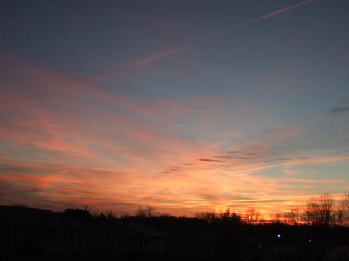 winter sky sun clouds sunrise project365