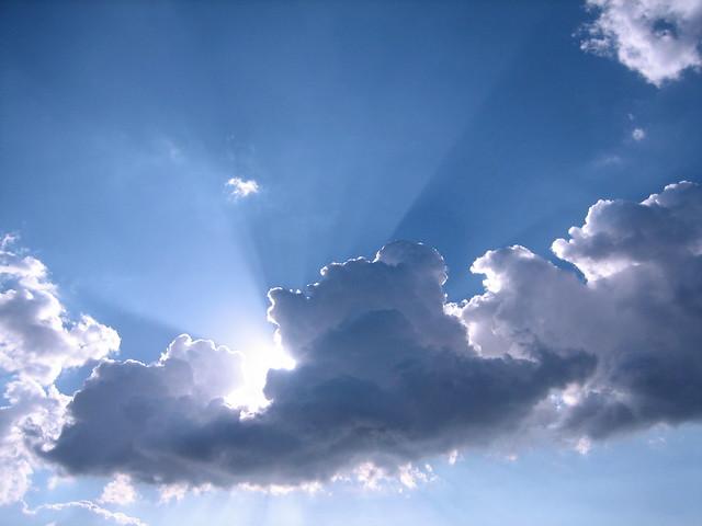 silver blue sky