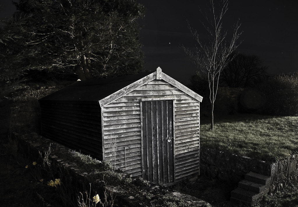Image result for spooky shed""