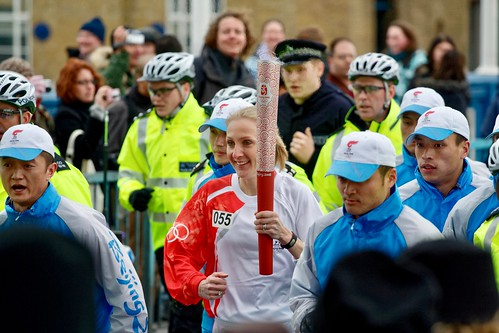 Paula Radcliffe participating in the 2008 Olympics Torch Relay