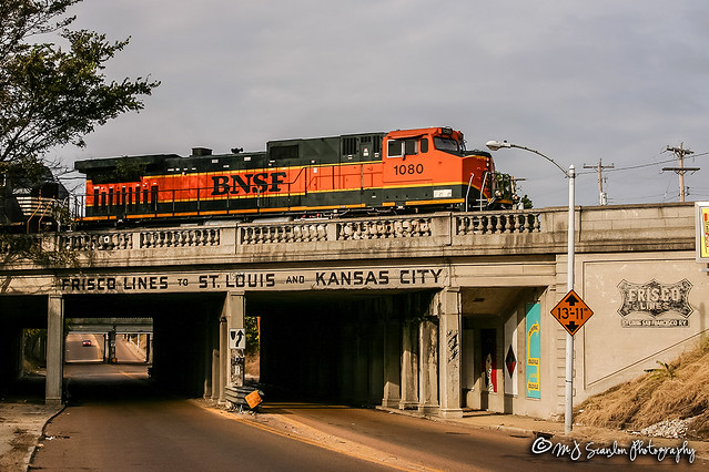 BNSF 1080 | GE C44-9W | BNSF Thayer South Subdivision