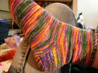 finished sock