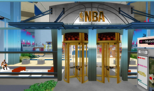 NBA shop in Second Life | by Mitch Wagner