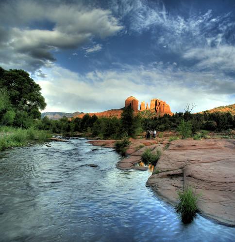 sunset red arizona rock sedona az redrock joeldeluxe hdr oakcreek endofsedonaset