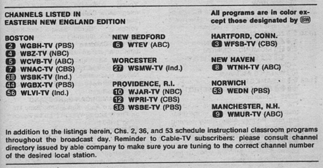 Eastern New England Edition (December 7, 1974) | From my TV