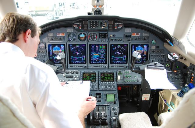 Xojet Inc Cessna Citation X N753pt Cockpit Prefligh