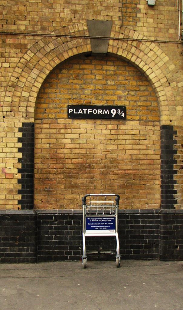 Image result for harry potter 9 3/4 platform wall