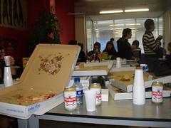 Bazkaria - comida patrocinada por Euskal pizza... :)