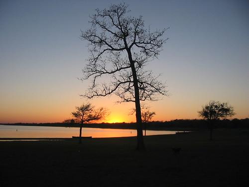 sunset texas lakesomville