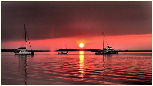 sunset florida sailboats fernandinabeach ameliaisland ameliariver nikond3100 nikon1855afsvrlens