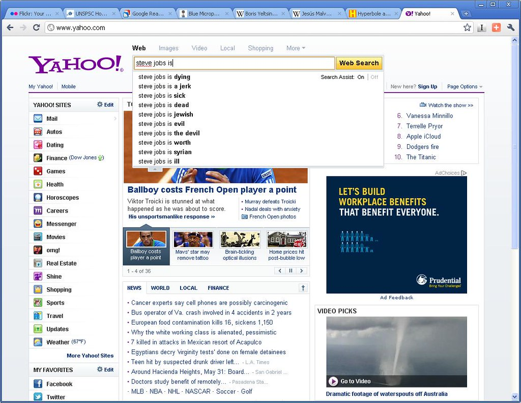 Steve Jobs is - Yahoo