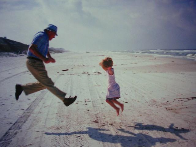 A leap on the beach!