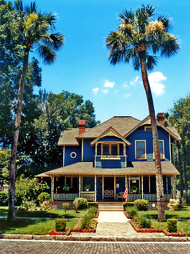 Higgins House and palm trees, Sanford, Florida | by StevenM_61