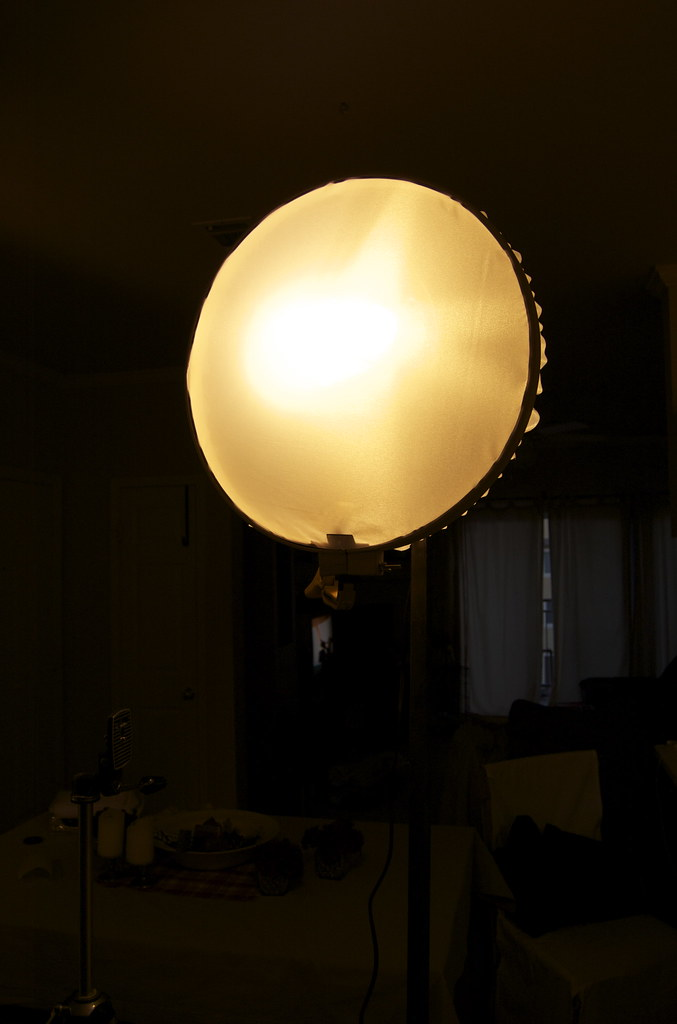 DIY Lamp & Diffuser   Diffuser is made from white nylon like