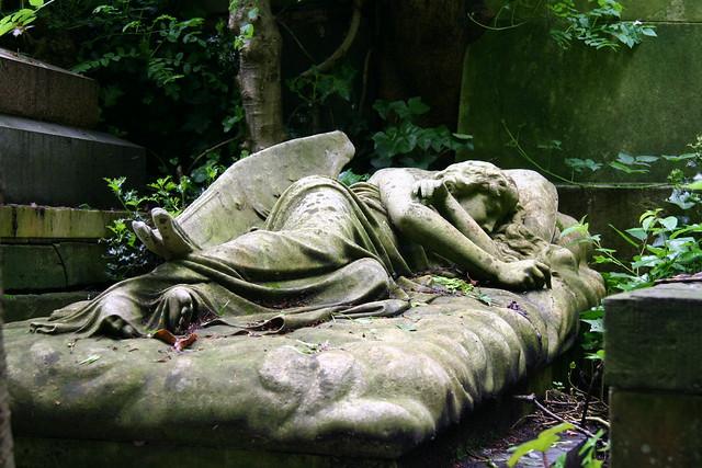 Sleeping angel, Highgate cemetery