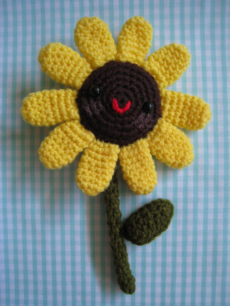 Crochet PATTERN Sunflower with ladybug amigurumi sunflower | Etsy | 1024x768